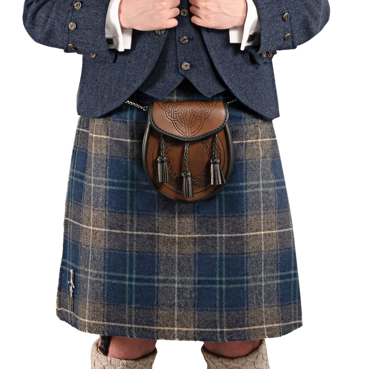 Mens Casual 5 Yard Waverley Tweed Medium Weight Kilt