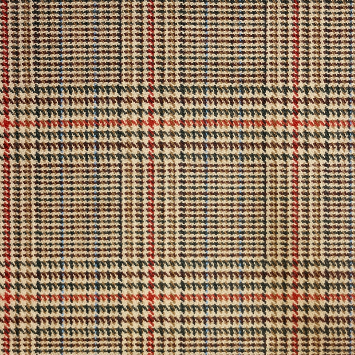Minto Check Tweed Light Weight Fabric-Front