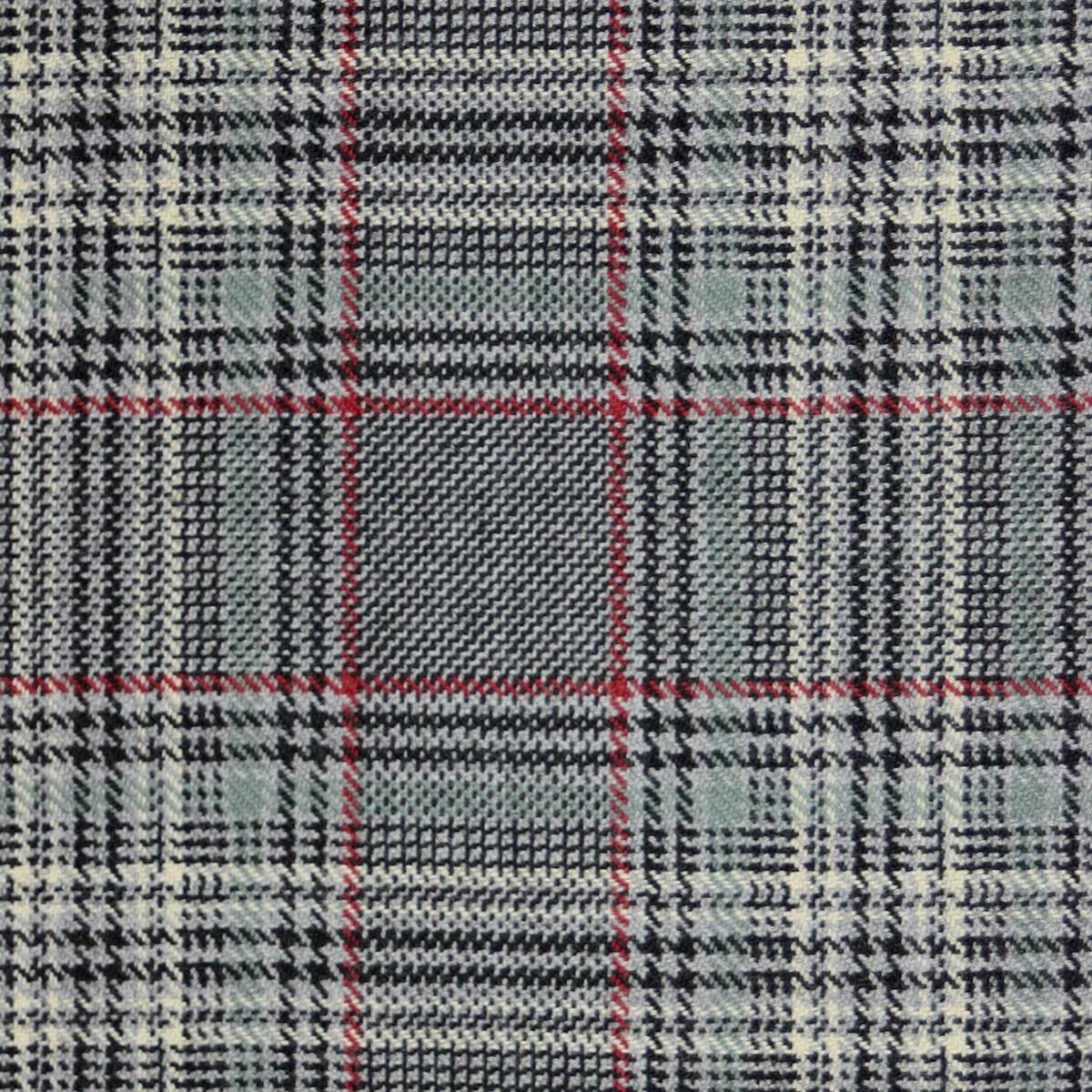 Plockton Check Tweed Light Weight Fabric-Front