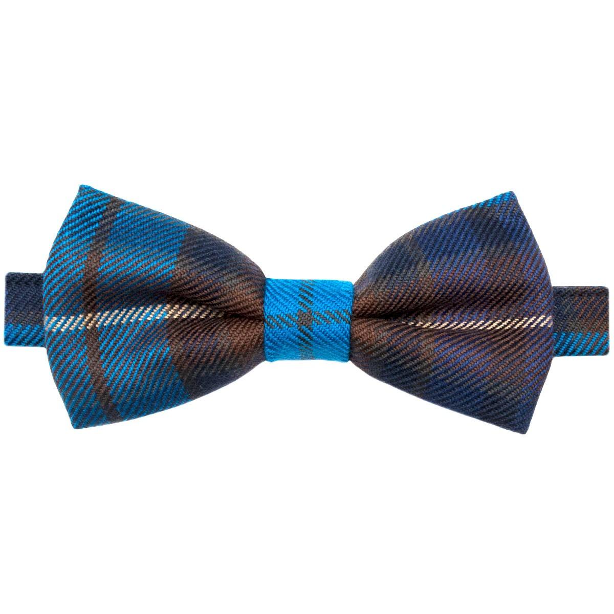 Buchanan  Blue Tartan Bow Tie - Back