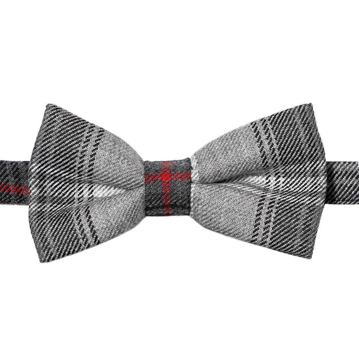 Lochcarron Graphite Tartan Bow Tie