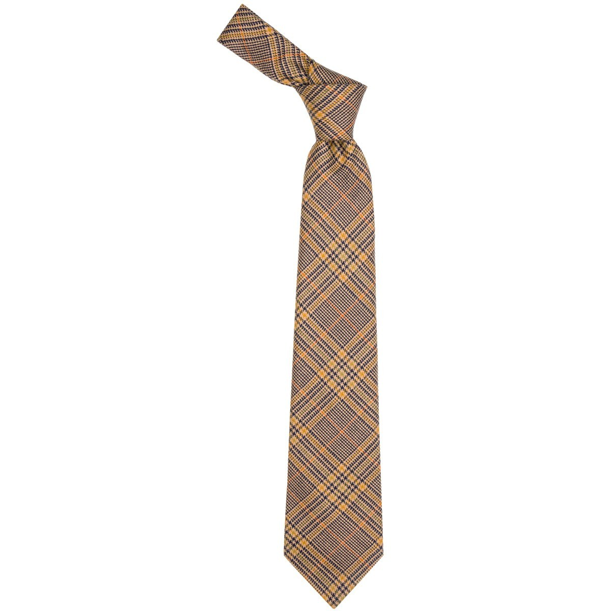 Eccles Check Tweed Wool Tie - Front