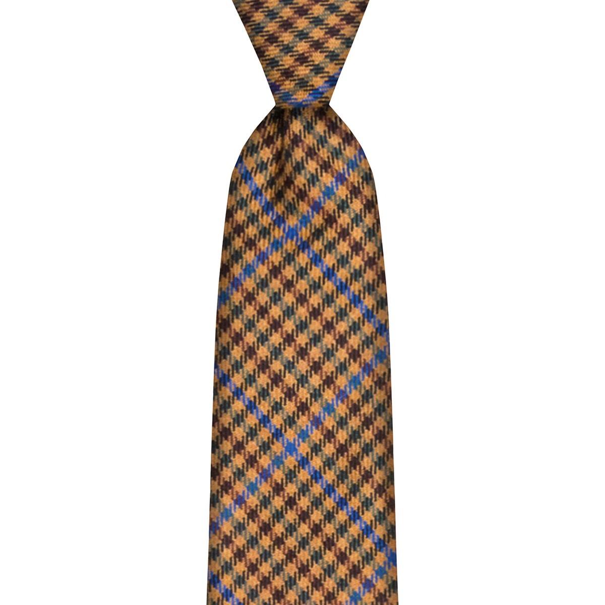 Kyle Check Tweed Wool Tie