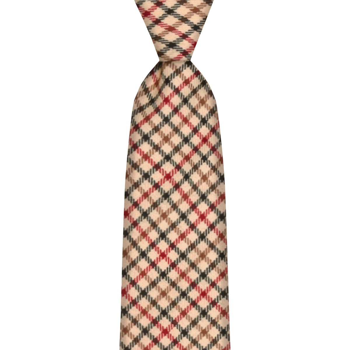Maxton Check Tweed Wool Tie