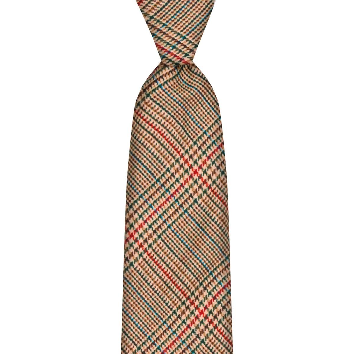 Minto Check Tweed Wool Tie