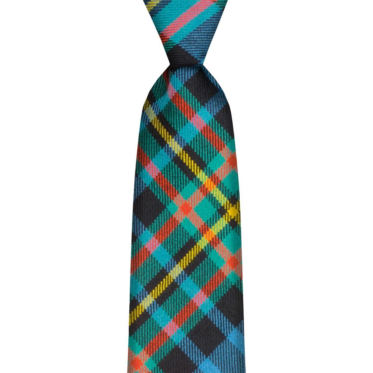 Lochcarron Clan Tartan  Tie Maclellan Ancient 100/% Wool Made In Scotland