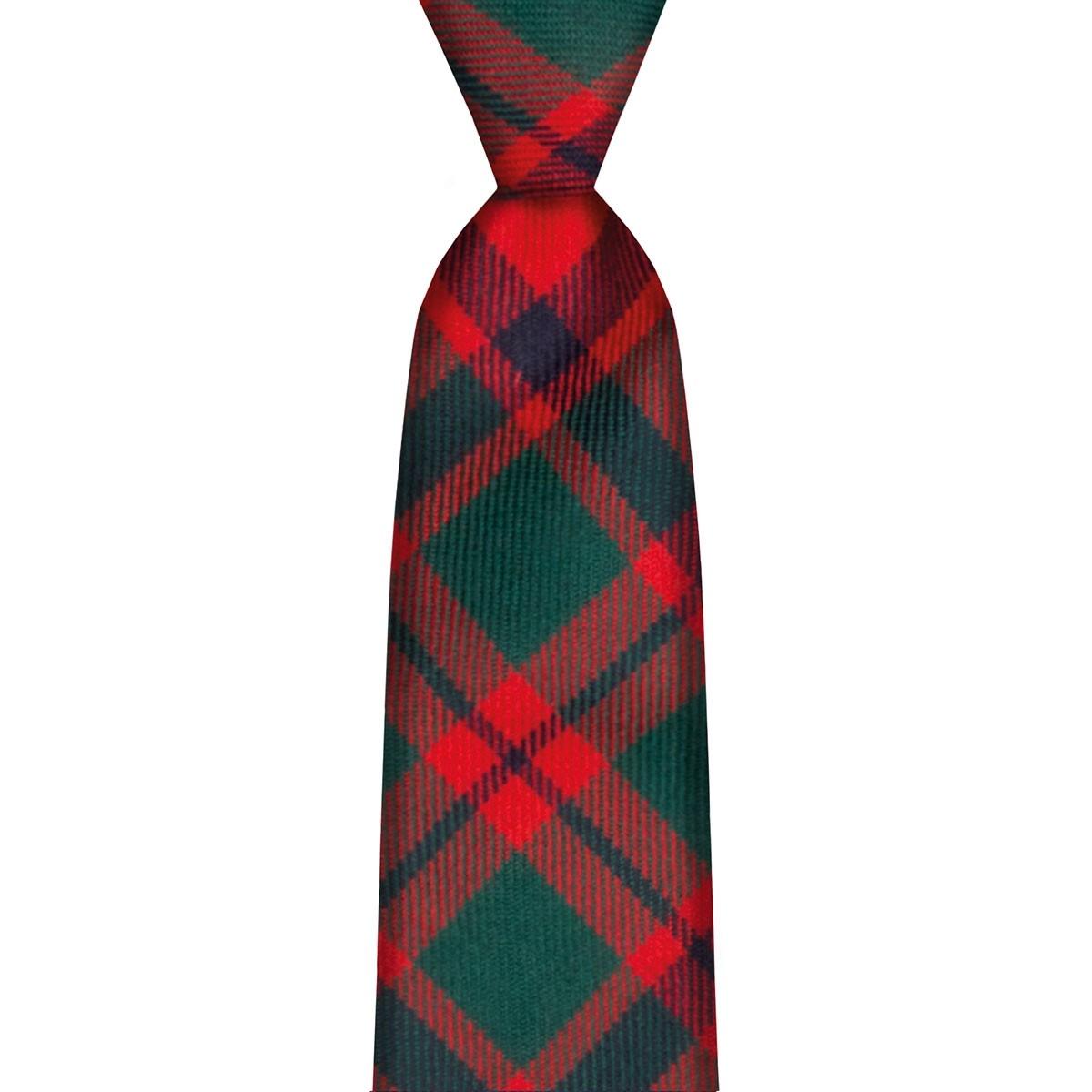 Clan Tie MacDonald Of The Isles Red Modern Tartan Pure Wool Scottish Handmade