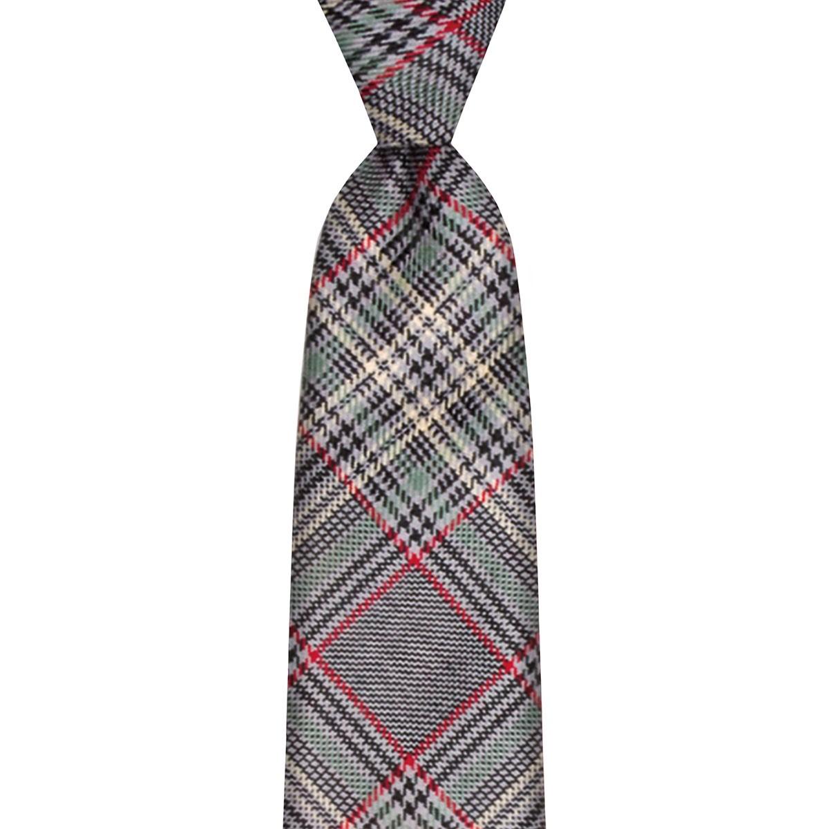 Plockton Check Tweed Wool Tie - Front