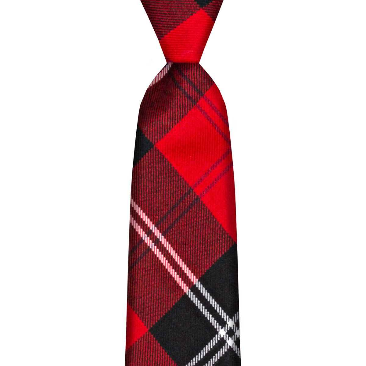 Ramsay Red Modern Tartan Tie