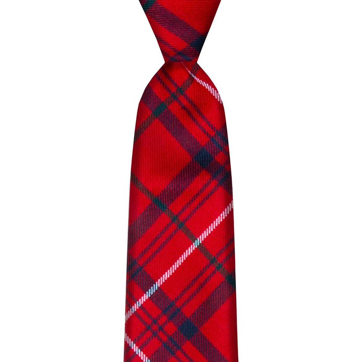 Rose Red Modern Tartan Tie
