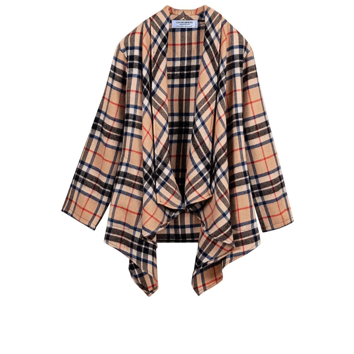 Thomson Camel Modern Tartan Lambswool Kerry Jacket