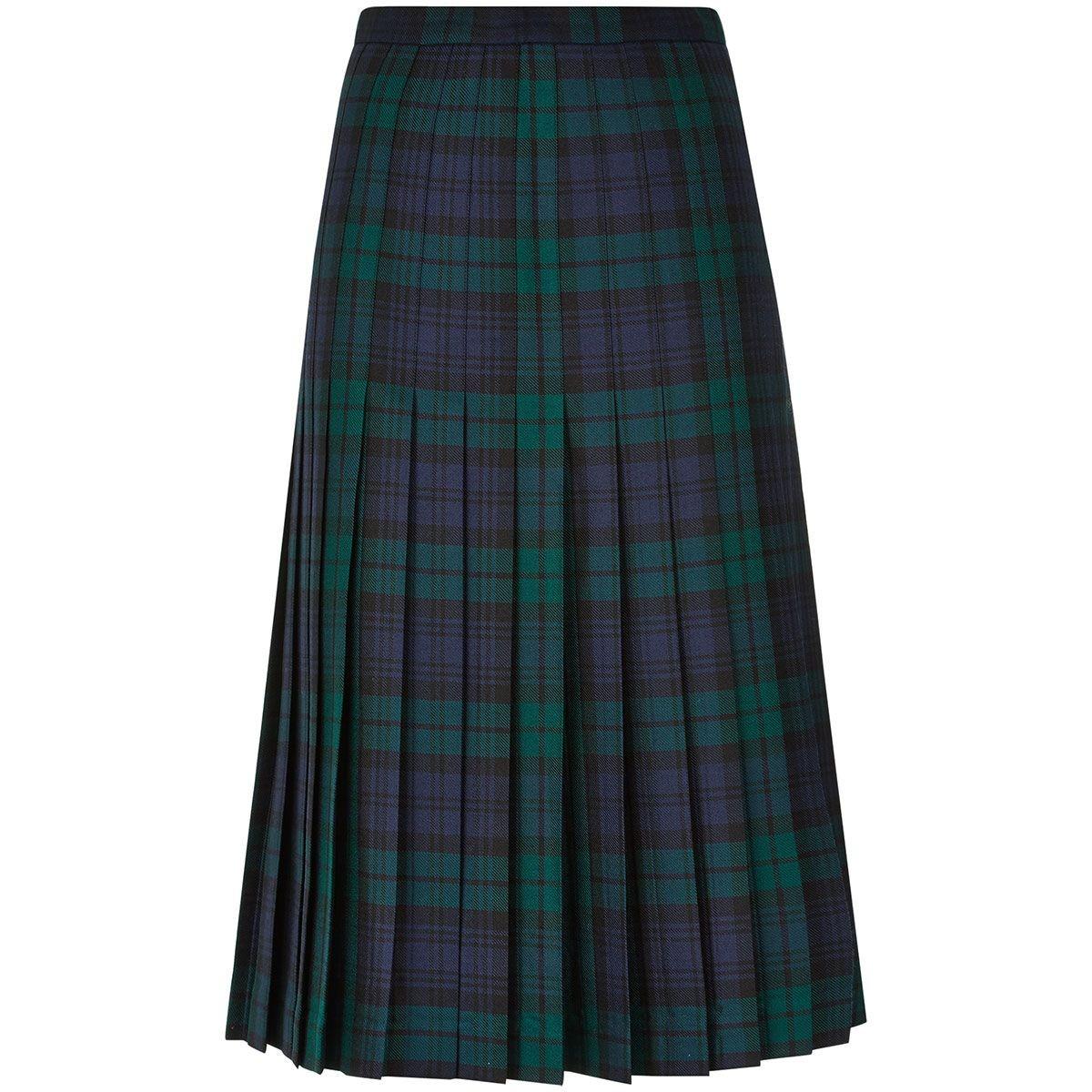 Fiona Skirt - Ladies Tartan All-round Pleated Skirt - Front
