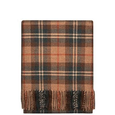 Fleur Moorland Check Wool Blanket