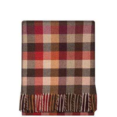 Fleur Autumn Block Wool Blanket