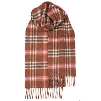 Beau Elie Rose Check Luxury Cashmere Scarf