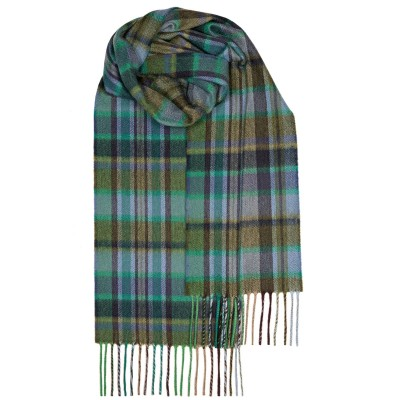 Green Meadow Check Luxury Cashmere Scarf