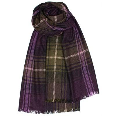Brock Lochcarron Heather Luxury Fine Wool Stole