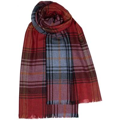 Brock Lochcarron Ruby Luxury Fine Wool Stole