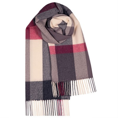 Bailey Flisk Pink Large Lambswool Scarf