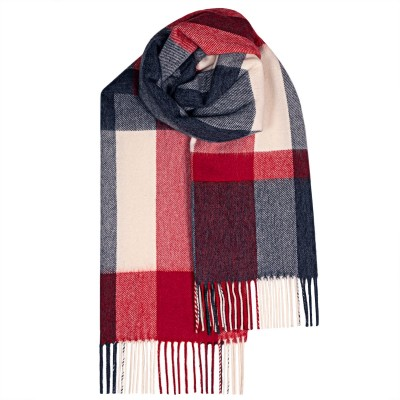 Bailey Flisk Red Large Lambswool Scarf