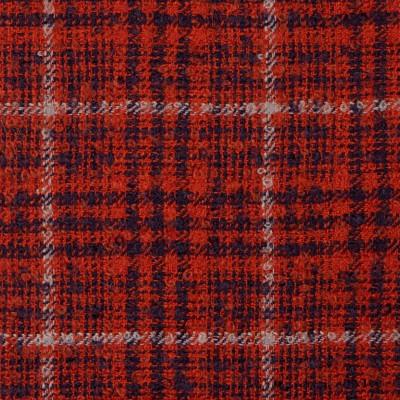 Rust Glen Check Wool Mohair Loop Tweed Fabric