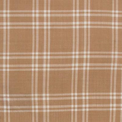 Camel /White Check Lightweight Wool Fabric