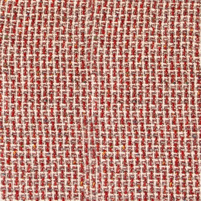 Red/White/Grey Wool Jacketing Fabric