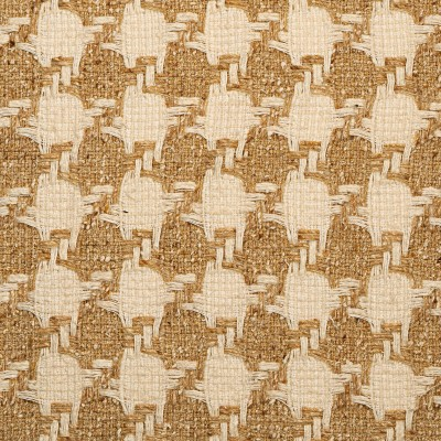 Camel and Cream Houndstooth Multi Wool Tweed Fabric