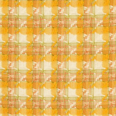 Ochre Check Cotton Fabric
