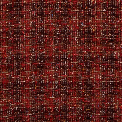 Rosso Check Sparkle Tweed Fabric