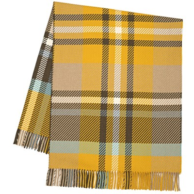Darcy Stewart Ochre Tartan Luxury Superfine Wool Throw