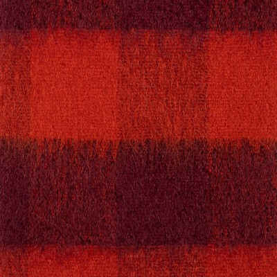 Red Block Mohair Brushed Fabric