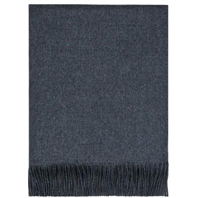 Charcoal Lambswool Blanket