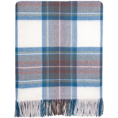 Stewart Dress Blue Lambswool Serape Made from our Blankets / Rugs