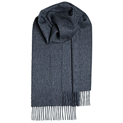 Charcoal Plain Coloured Lambswool Scarf