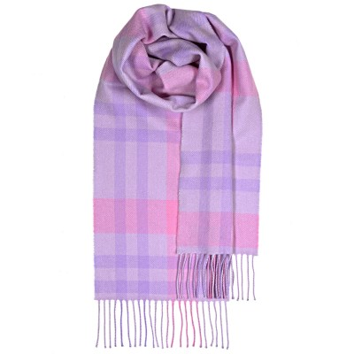 Bowhill Pink Asymmetric Lambswool Scarf