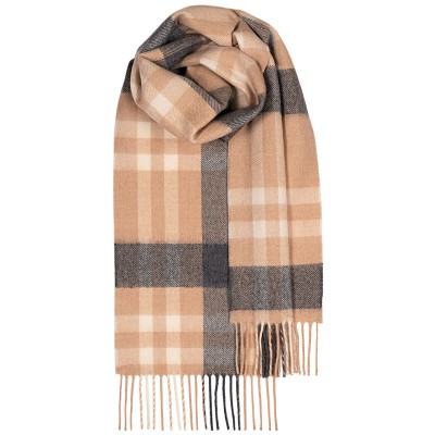 Bowhill Camel Asymmetric Lambswool Scarf