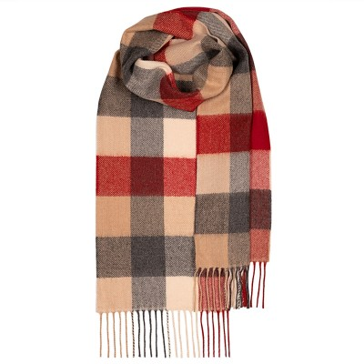 Bowhill Red Buffalo Lambswool Scarf