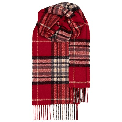 Bowhill Red Yarrow Lambswool Scarf