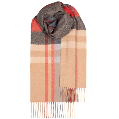 Bowhill Belses Camel Lambswool Scarf