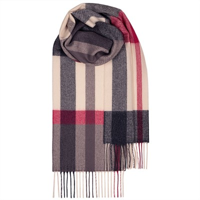 Bowhill Flisk Pink Lambswool Scarf