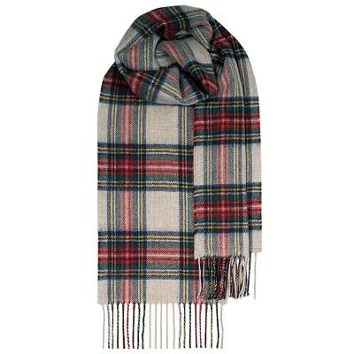 Bowhill Stewart Dress Grey Lambswool Scarf