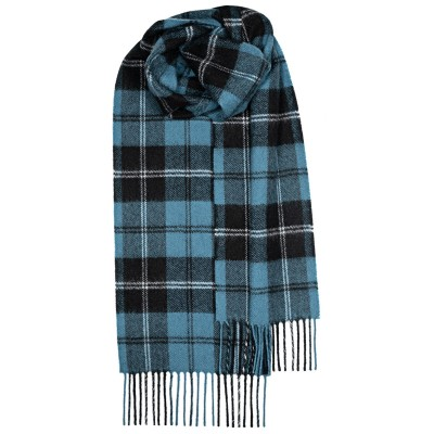 Ramsay Blue Ancient Tartan Lambswool Scarf