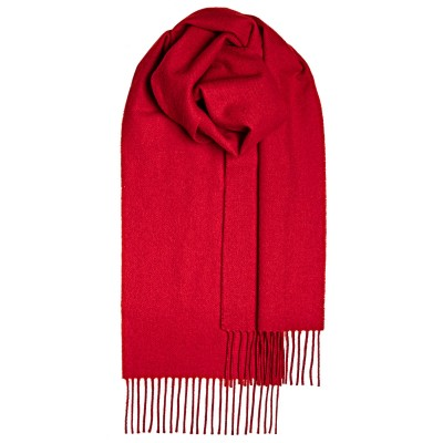 Red Plain Coloured Lambswool Scarf
