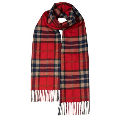 Dawrin Thompson Red Antique Luxury Oversized Lambswool Scarf