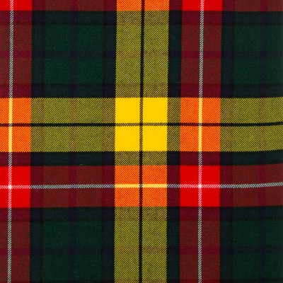 Buchanan Modern Medium Weight Tartan Fabric-Front