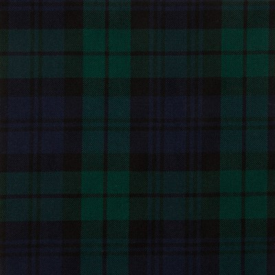 Black Watch Modern Medium Tartan Fabric-Front