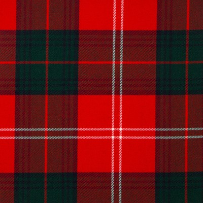 Chisholm Red Modern Medium Weight Tartan Fabric-Front