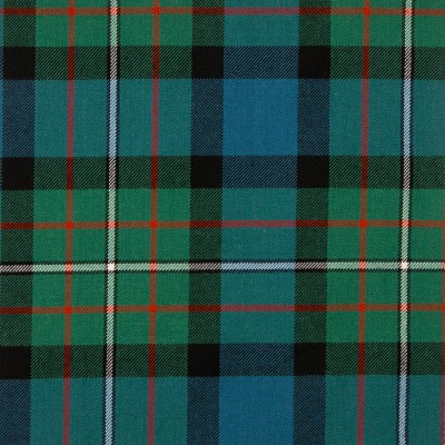 Ferguson Ancient Medium Weight Tartan Fabric-Front