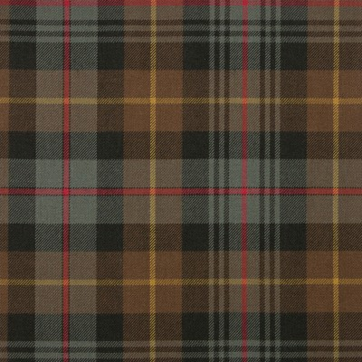 Farquharson Weathered Medium Weight Tartan Fabric-Front